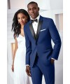 COBALT BLUE TRIBECA TUXEDO by Ike Behar Evening